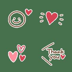 อิโมจิไลน์ Kawaii mini Heart Emoji