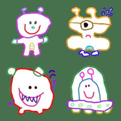 Alian graffiti(Emoji)