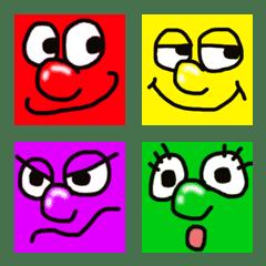 อิโมจิไลน์ Is colorful; a pop face