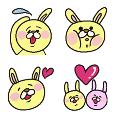 It is of yellow rabbit happy Emoji!