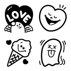 Simple monochrome pop emoji