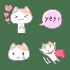 Simple Pastel Calico cat