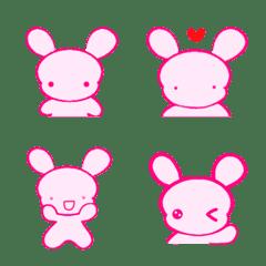 Cute pink rabbit chuto.