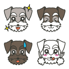 Various Schnauzer Emoji