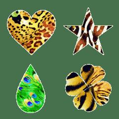 Animal pattern of symbols.