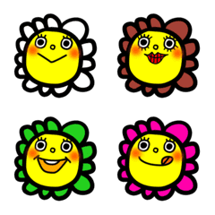 Colorful flower-chan