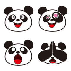 Expression decorated letter of the panda
