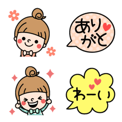 cute girl.Emoji