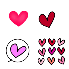 อีโมจิ Hearts of various shapes emoji