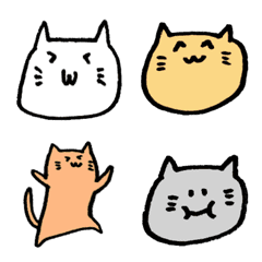 อีโมจิ easy to use lovely cat emoji