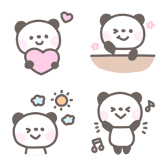 อีโมจิ Fluffy pastel color panda emoji3