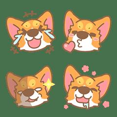 อิโมจิไลน์ Corgi Pon Pon Emoji