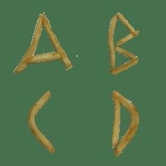 薯條英文字+羅馬數字+運算符號貼