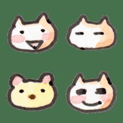 usabo Emoji 01 Working white cat
