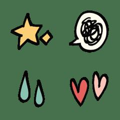 girl simple cute hand-written emomoji
