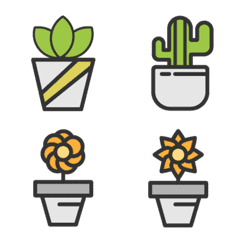 Plants on the pot
