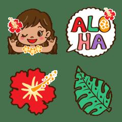 HULA GIRL Emoji – LINE Emoji   LINE STORE