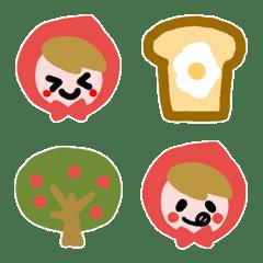 Cute Emoji of Little Red Riding Hood