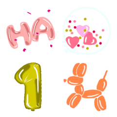 Balloon shop Emoji Happy Birthday ver.