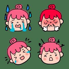 Expressive pink hair girl(emoji)