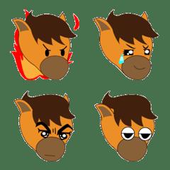 "Emoji of ""Umanchu"" of horse"