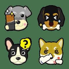 4 dogs emoji – LINE Emoji | LINE STORE