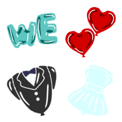 Balloon shop Emoji Happy Wedding ver.