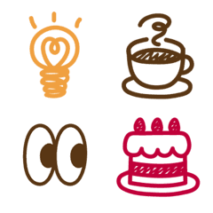 Handwritten emoji *