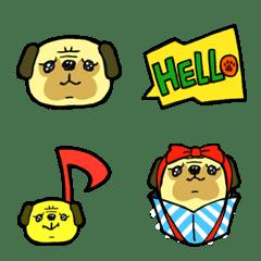 After all I love pugs.Pug-maru Emoji
