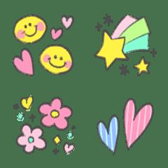 Adult cute handwritten emoji