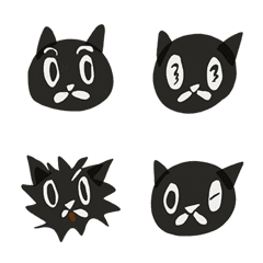 little black print cat emoji