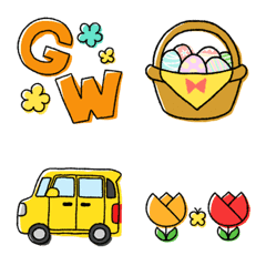 April & May Japanese Emoji