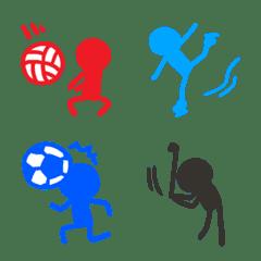 Colorful bouningen sportsman