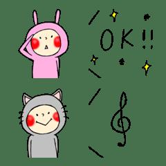Emoji of the child in costume