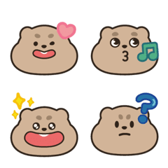 อิโมจิไลน์ Silent gallery-Groundhog Bobo