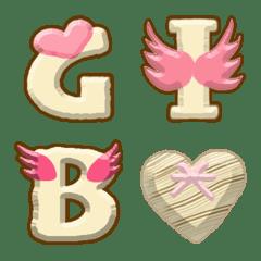 Milk chocolate Alphabet Wing Heart Emoji