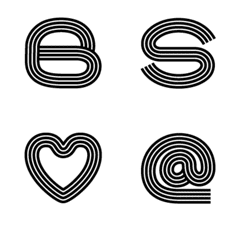Black and white Bold stripes Emoji
