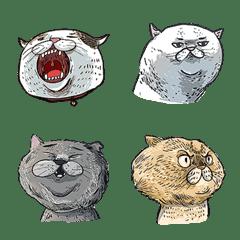 貓似顏表情貼01