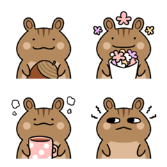 Let's use every day! Cute squirrel emoji