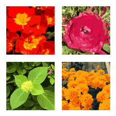 Painting Style Flower Emoji Line Emoji Line Store