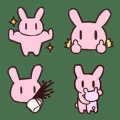 อิโมจิไลน์ Usable pink rabbit Emoji