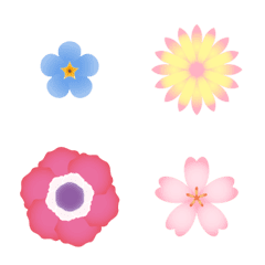 Flower that colors colorfully Emoji