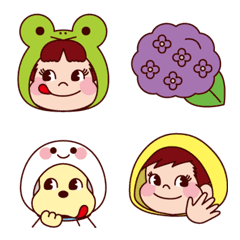Enjoy the Rainy season! PEKO's Emoji 3rd