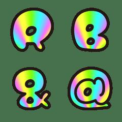Marukoro Rainbow Alphabet Emoji Line Emoji Line Store