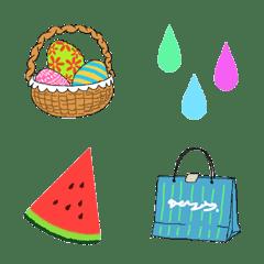 Seasonal Emoji  (Spring and summer)