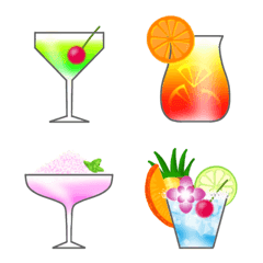 Colorful cocktails for adults