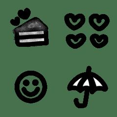 Simple black emoji for everyday