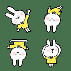 Funny Flappy Rabbit Emoji