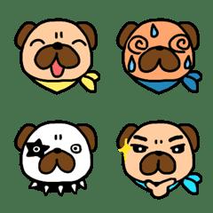 Fashionable Pug's Emoji