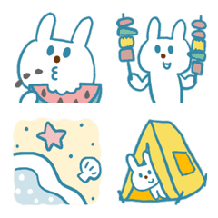 blue rabbit and summer vacation